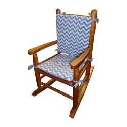 Minky Chevron Child's Rocking Chair Cushion